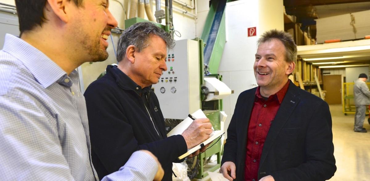 Urs Gerber (r.), Nicolas Gehrig (l.) und Martin Schuppli (Foto Bruno Torricelli)