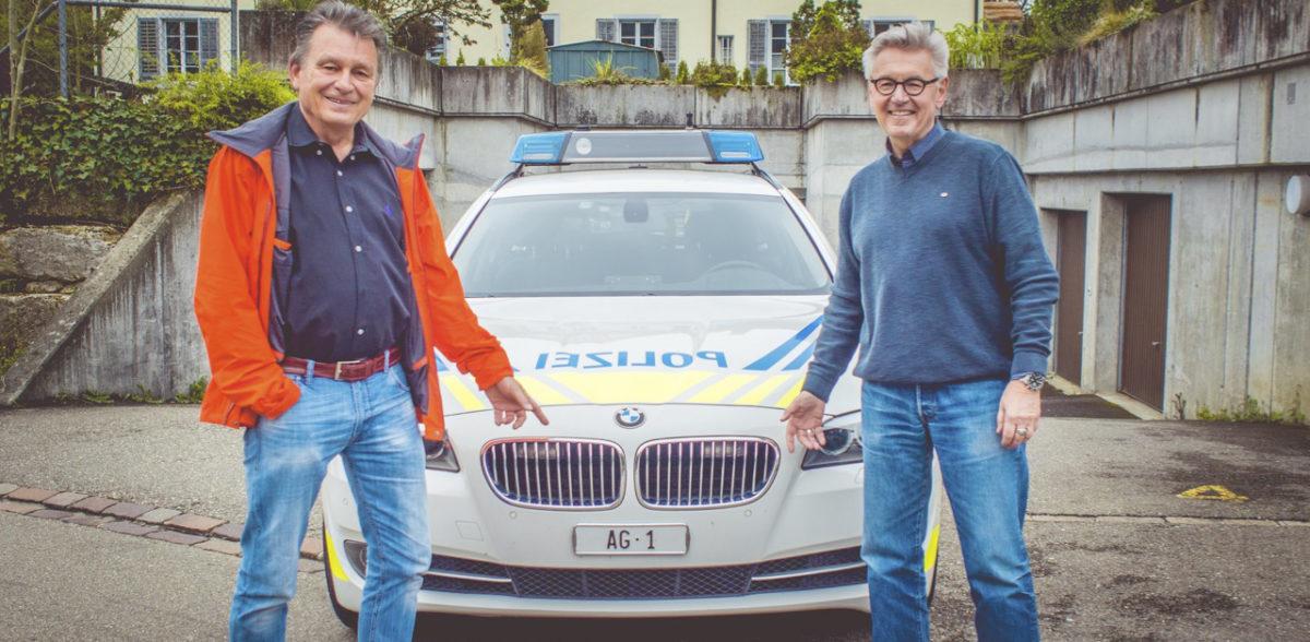 Martin Schuppli und Horst Hablitz vor AG 1-BMW